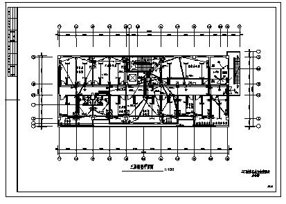 某市九层单位办公综合楼电气施工cad图(含照明设计)-图二