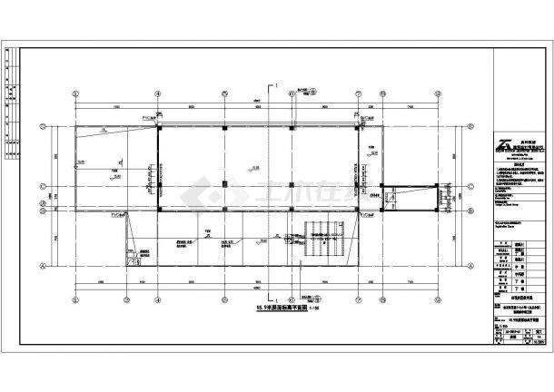 锦州市某中学8080平米4层框架结构教学办公楼全套建筑设计CAD图纸-图一