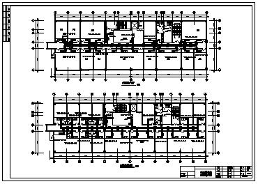某七层酒店综合楼采暖通风施工cad图(含空调系统设计)-图二