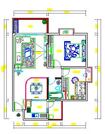 某住宅室内cad装修设计图纸-图二