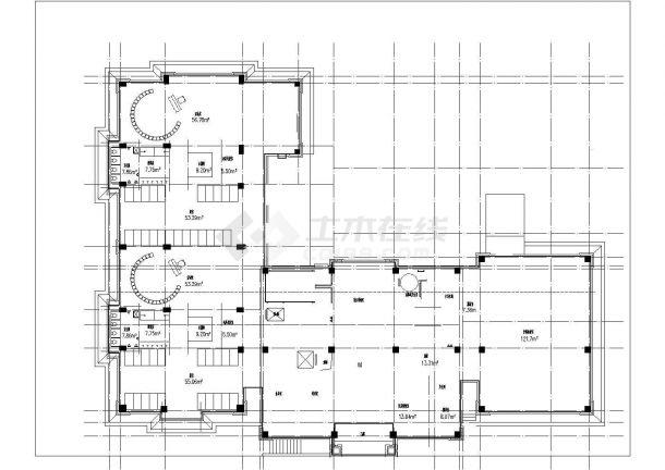 安顺市某艺术幼儿园2240平米3层框架结构教学楼建筑设计CAD图纸-图一