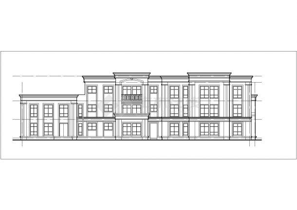 安顺市某艺术幼儿园2240平米3层框架结构教学楼建筑设计CAD图纸-图二
