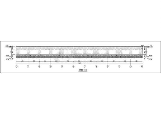 通城县某实验中学460平米单层砖混结构教学楼建筑设计CAD图纸-图一