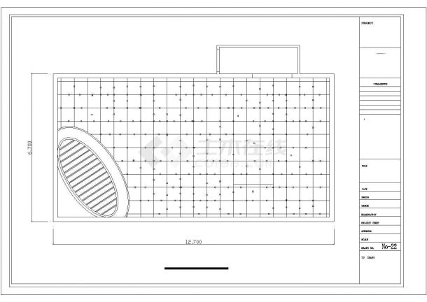 上海市徐汇区某高档商务酒吧平面装修装饰设计CAD图纸-图一