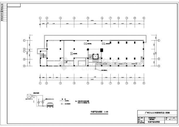 西安市雁塔区某高档商务酒店全套平面装修装饰设计CAD图纸-图一