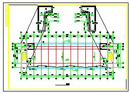 某市工业区宿舍楼建筑cad施工设计图-图一
