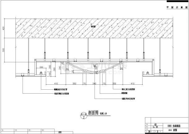 某大型桑拿洗浴会所室内装修设计cad施工详图(甲级院设计)-图二