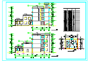 某市四层养老院cad建筑方案设计图纸-图二