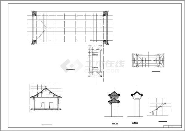 某中式四合院精品古建筑方案设计施工CAD图纸-图一
