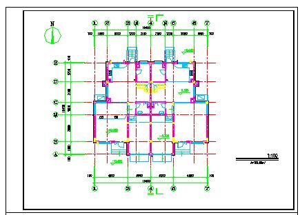 某双拼三层小别墅建筑cad设计施工图纸-图一