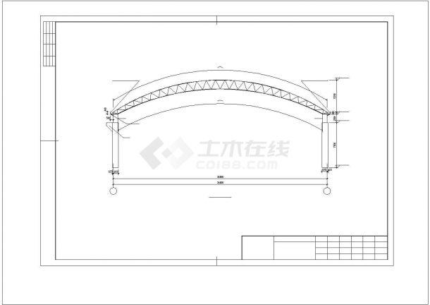某煤场防尘环保技改工程结构方案设计施工CAD图纸-图一