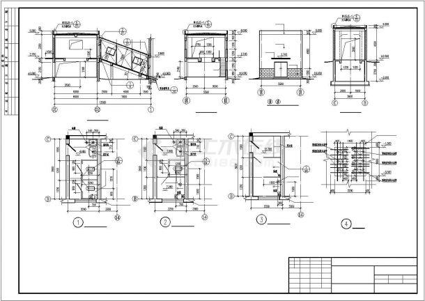某工业场地锅炉房结构方案设计施工CAD图纸-图一