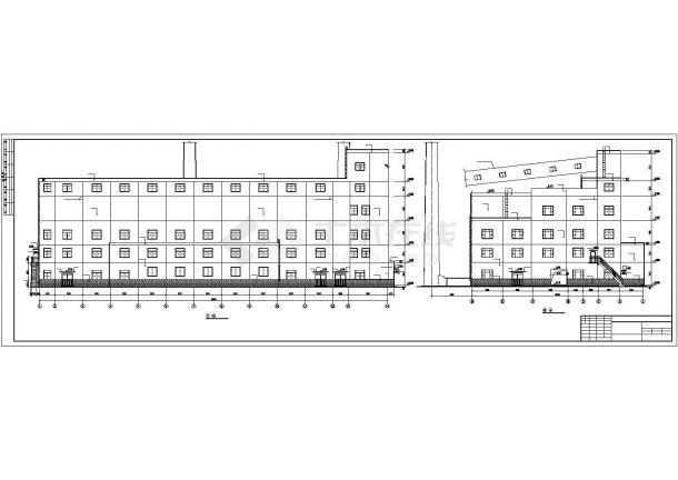 某工业场地锅炉房结构方案设计施工CAD图纸-图二