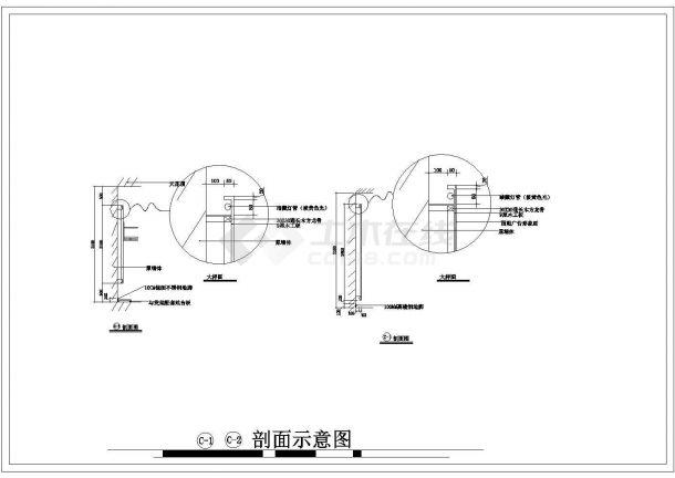 某130平方服装专卖店室内装修设计cad详细施工图-图二