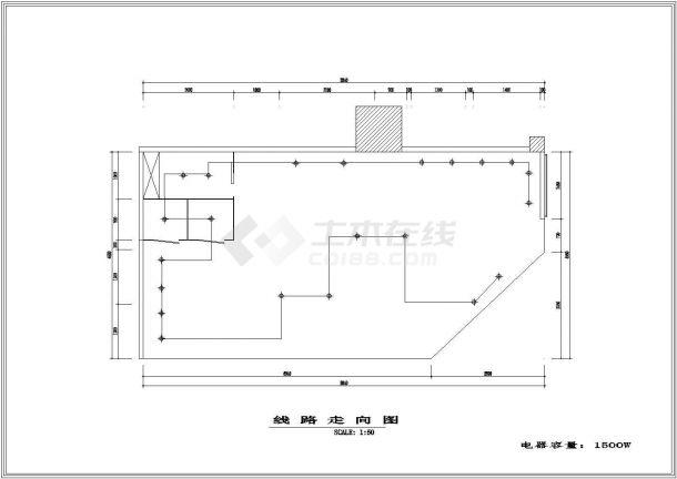 南京金陵百货服装专卖店(40平方米)室内装修设计cad全套施工图-图一