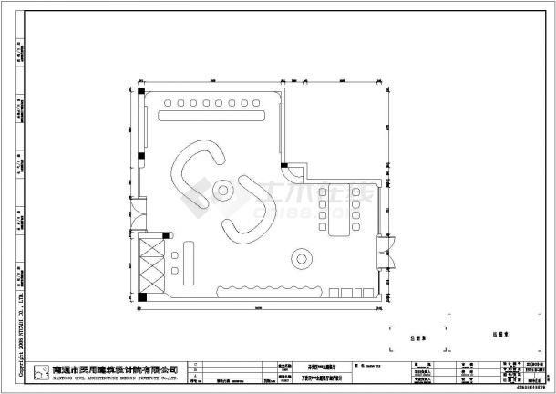 某开发区主题餐厅室内装修设计cad施工图-图一