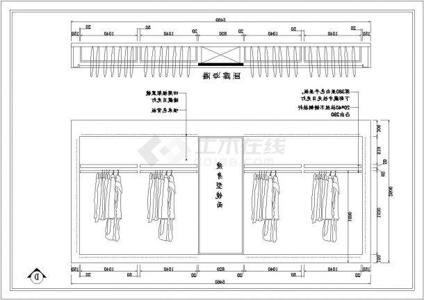 ECACA贵阳星力百货店室内装修设计cad全套施工图-图一