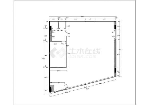 杭州lee服装店时尚风格室内装修设计cad全套施工图-图二