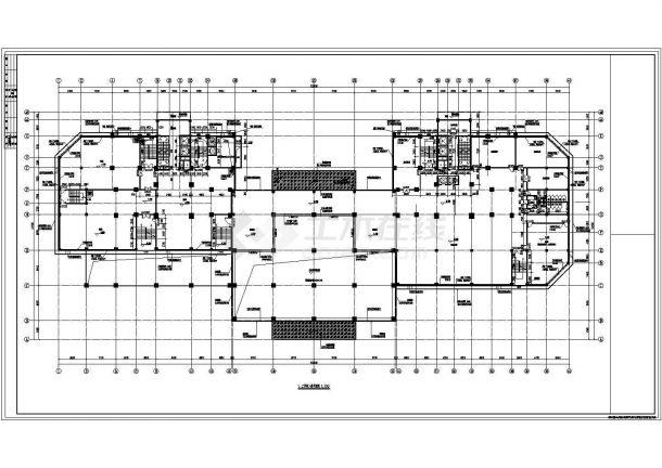 贵阳市建春路某24层框剪结构商住楼全套建筑设计CAD图纸(1-5层商用)-图一