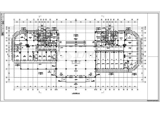 贵阳市建春路某24层框剪结构商住楼全套建筑设计CAD图纸(1-5层商用)-图二