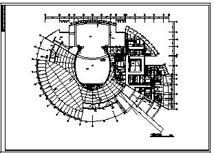 某市三层文化馆综合楼电气施工cad图(含照明,供电设计)-图一