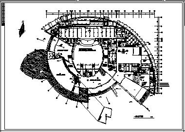 某市三层文化馆综合楼电气施工cad图(含照明,供电设计)-图二