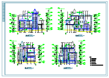 别墅建筑设计CAD施工图-图一