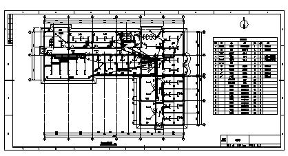 某市调度办公综合楼电气施工cad图(含弱电,照明设计)-图一