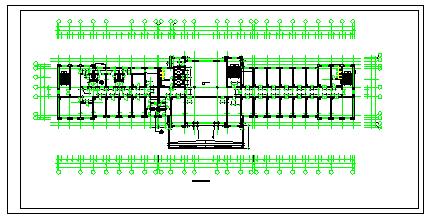 某县级五层医院cad建筑方案设计图纸-图二