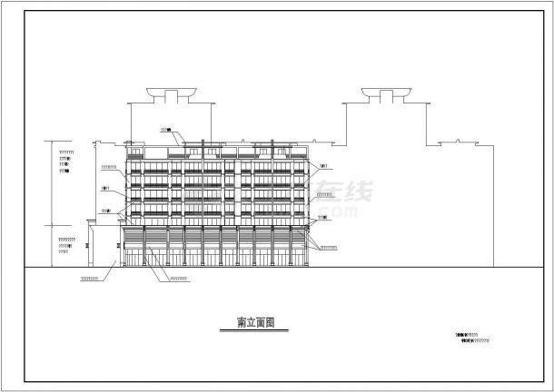 中南装饰城内多层商住楼装修设计cad立面图-图一