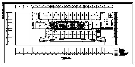 某十七层带地下室商务大厦电气施工cad图(含强电,消防设计)-图一