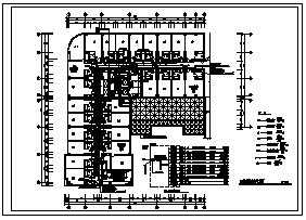 某八层会议室大楼电气施工cad图(含照明,弱电,消防设计)-图二