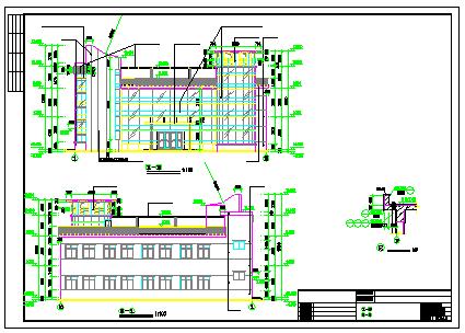 南方老人活动场所建筑CAD设计图带效果图-图二