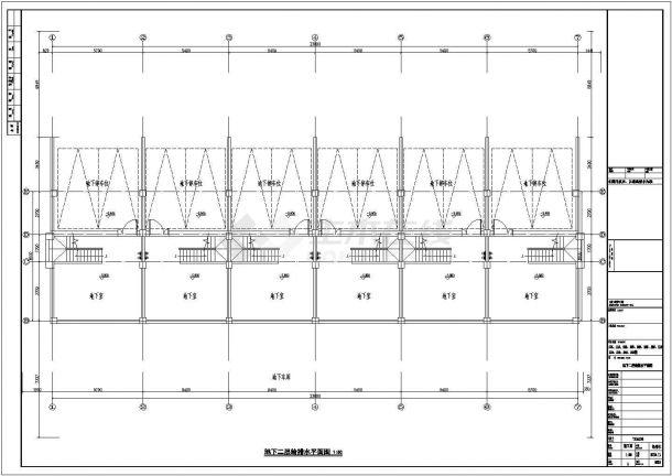 成都嘉元花园小区1370平3+1层框架结构住宅楼给排水平面设计CAD图纸-图一