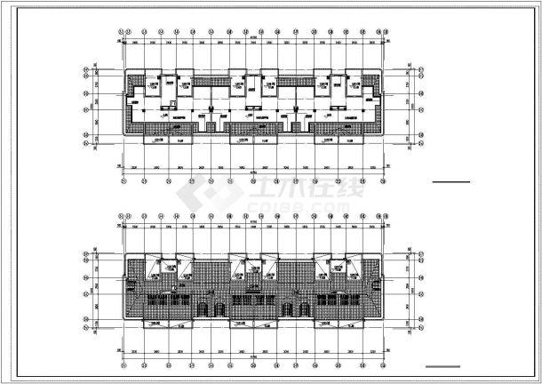 南通市北桥小区5+1层砖混结构住宅楼给排水平面设计CAD图纸(5套方案)-图一