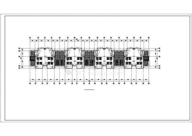 太原市柏林花园小区5层砖混住宅楼给排水平面设计CAD图纸(3套方案)-图一