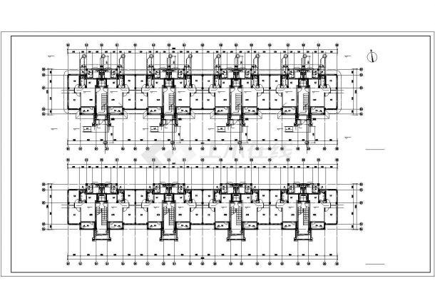 太原市柏林花园小区5层砖混住宅楼给排水平面设计CAD图纸(3套方案)-图二