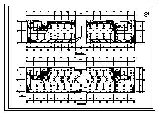 某四层皮件厂综合楼电气施工cad图(含照明设计)-图一