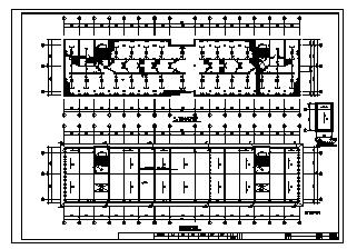 某四层皮件厂综合楼电气施工cad图(含照明设计)-图二