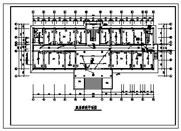 办公楼电气设计_某四层办公楼电气施工cad图(含照明设计)-图二