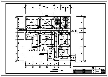 办公楼电气设计_某二层办公楼电气施工cad图,含照明,弱电设计-图一