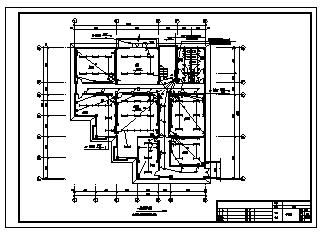 办公楼电气设计_某二层办公楼电气施工cad图,含照明,弱电设计-图二