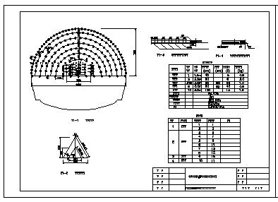 隧道爆破网络布置CAD设计图纸-图一