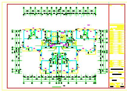 铜陵映湖山庄两栋高层建筑cad设计图纸-图一