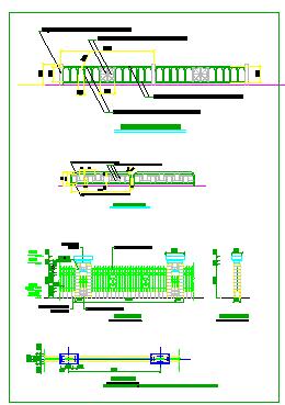 围墙栏杆详细设计图块CAD大集全-图一