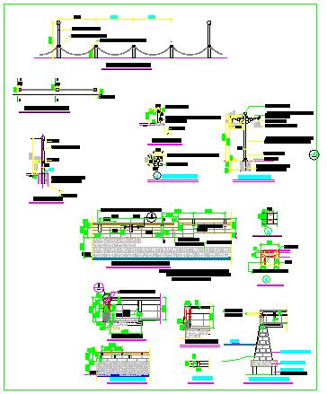 围墙栏杆详细设计图块CAD大集全-图二
