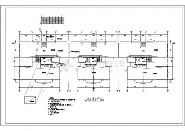 高层小区住宅施工设计全套施工cad图,含效果图-图一
