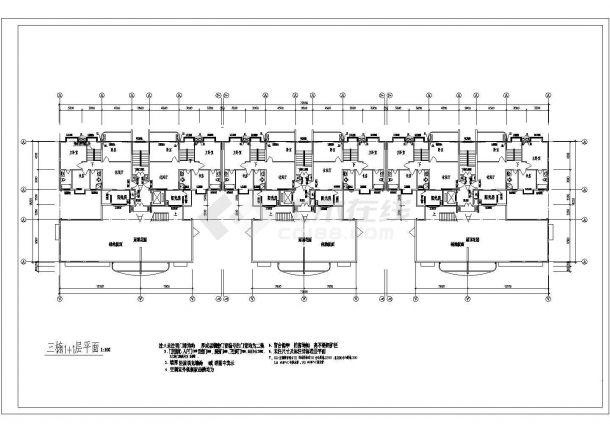 高层小区住宅施工设计全套施工cad图,含效果图-图二