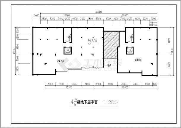 航运新村高层住宅建筑设计03全套施工cad图-图一