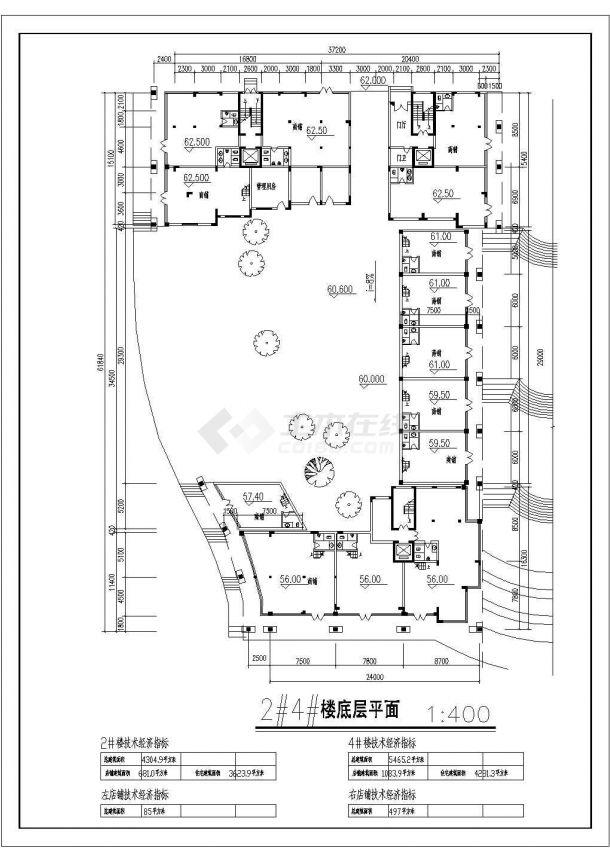 航运新村高层住宅建筑设计03全套施工cad图-图二